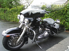 Black Gel Coat 6x9 Batwing Fairing Harley Davidson Road King Police