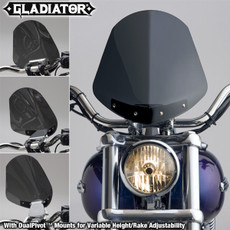 Gladiator® Height/Rake Adjustable Windshield for Harley-Davidson® N2703