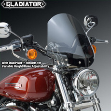 Gladiator® Height/Rake Adjustable Windshield for Harley-Davidson® N2708