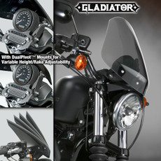 Gladiator® Height/Rake Adjustable Windshield for Harley-Davidson® N2714