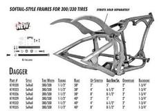 "Dagger / Softail Style 300-330 SDT / 1-1/2"" 38 Rake 4"" Stretch 6.5"" BBS"