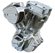 El Bruto® Series Ultima 4.00 Bore 107 CI  Engine - Polished Assembled