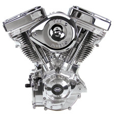 S&S V124 Engine - Diamond Cut Fully Polished - S&S Super G Carb - IST Ignition