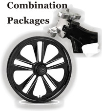 "Combination Package - Install 26"" Big Wheel on Harley Bagger"
