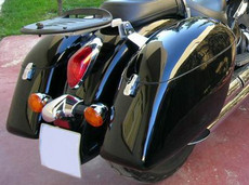 Strong Hardbags for Motorcycle Cruisers - Bike Specific - Gloss Black