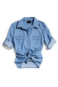[Sample] Levi's, blue denim womens shirt