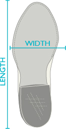 Width and lenght Cowboy Boot