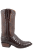 Lucchese Men's Chocolate Ultra Caiman Crocodile Boots - Side