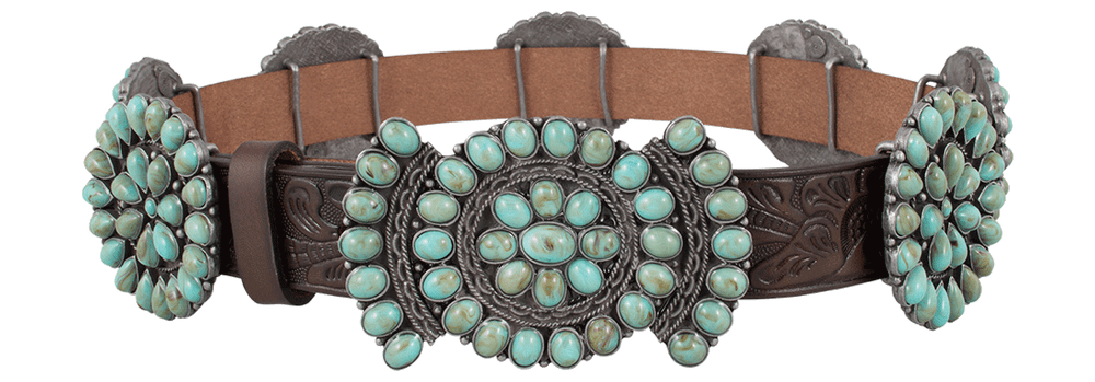 Double D Ranch Saqui Turquoise Concho Belt