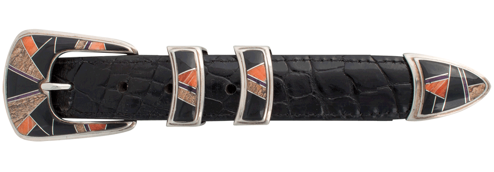 "B.G. Mudd Oynx and Jasper 1"" Buckle Set"