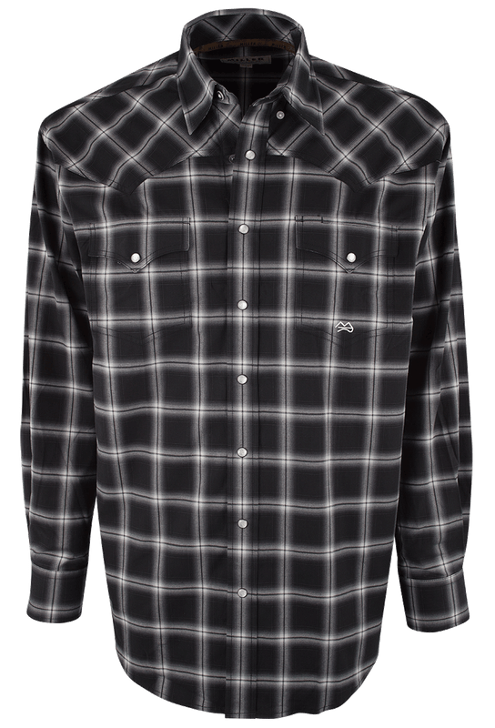 Miller Ranch Black Plaid Snap Shirt - Front