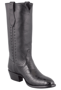 Stallion Men's Black American Alligator Boots - Hero