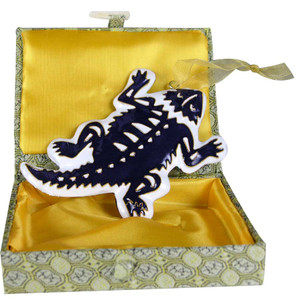 Ornament - Texas Christian University Horn Frog Ornament - Front