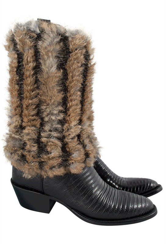 Pat Dahnke Fur Boot Toppers - Side