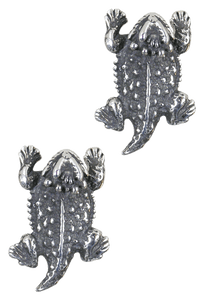 Pinto Ranch Horned Frog Silver Cufflinks