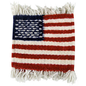 Coaster - Zapotec American Flag