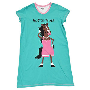 Pajamas - Hot To Trot Night Shirt S/M