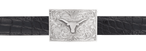 "University of Texas Bevo 1"" Trophy Buckle"
