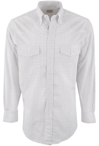 Gitman Bros. Brown, Blue and Tan Check Shirt - Front