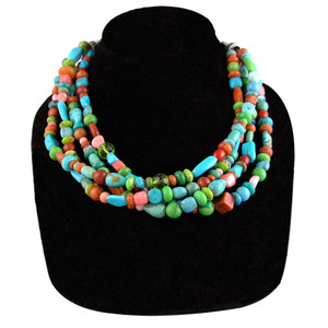 Necklace - Multi Stone Necklace