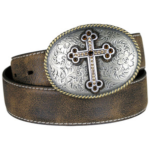 Antique Cross Belt - Brown
