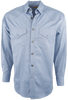 Stubbs - Mens Solid Western Shirt - Blue - Back
