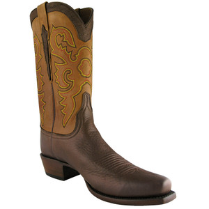 Lucchese Mens Elk and Calf Boots - Tan