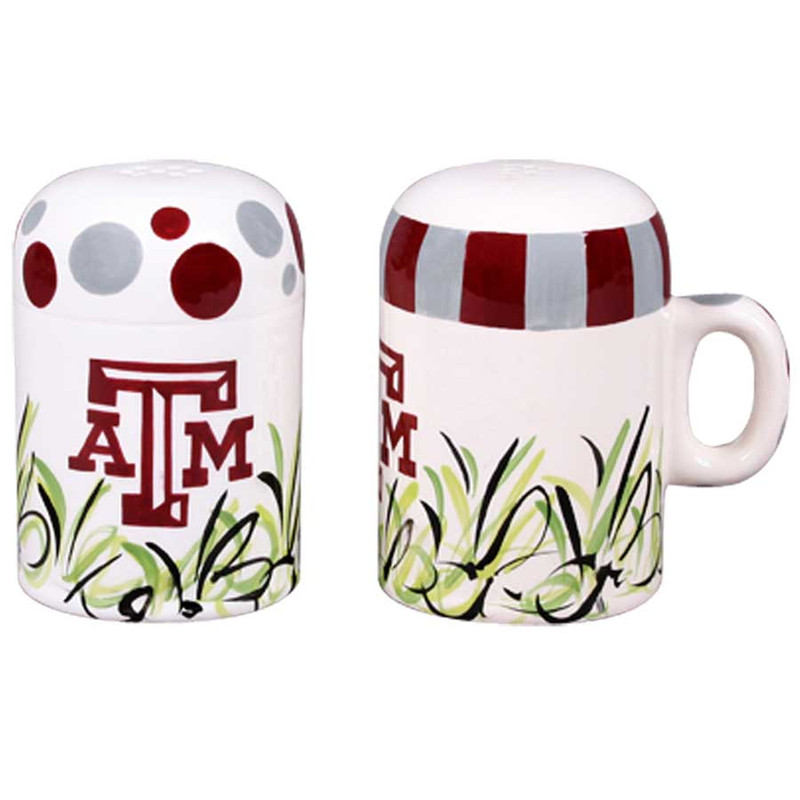 University - Texas A&M University Salt and Pepper Shakers