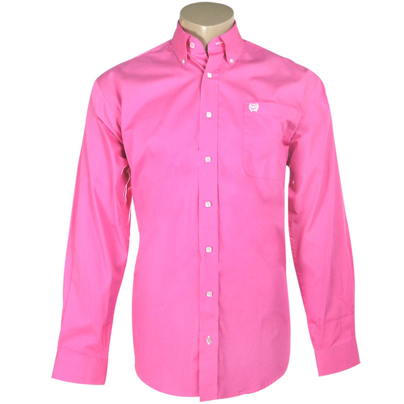 Cinch Pink Solid Button Down Shirt Pinto Ranch