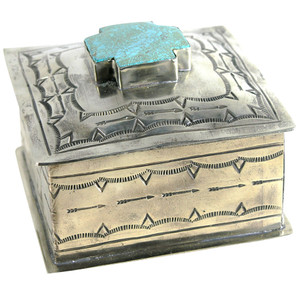 Home - Silver Stamped Box with Cross - Hero