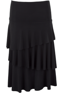 Last Tango Layered Ruffle Skirt - Black- Front