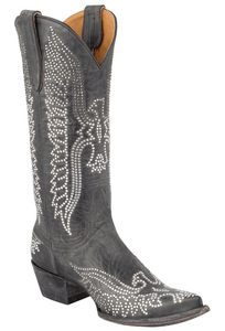 Old Gringo Women's Black Eagle Swarovski Crystal Boots