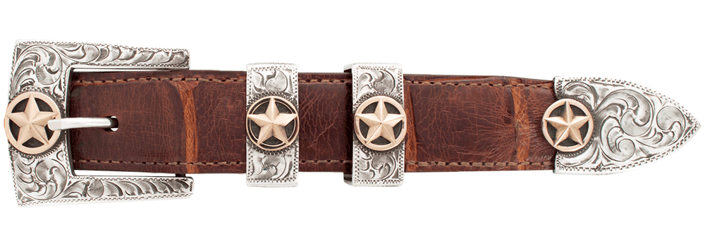 "Pinto Ranch Star Gold 1"" Buckle Set"