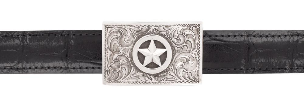 "Pinto Ranch 3D Silver Star 1"" Trophy Buckle"