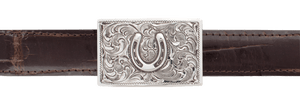 "Pinto Ranch Horseshoe 1"" Trophy Buckle"