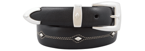 Denver Diamond Belt - Black