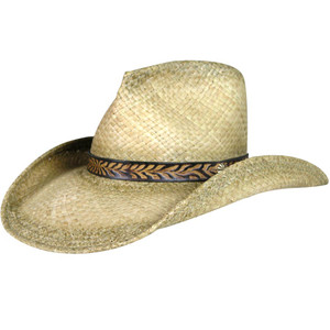 Shady Brady Straw Hat with Embossed Hat Band