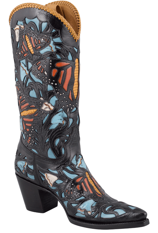 Liberty Boot Co. Women's Monarch Butterfly Boots - Hero