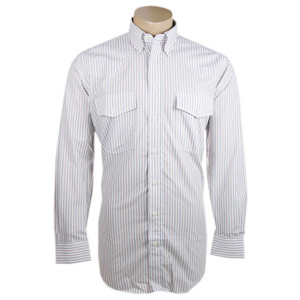 Gitman Bros. White Blue and Red Stripe Shirt