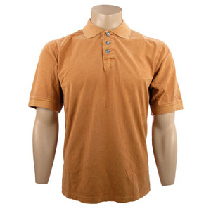 True Grit Short Sleeve Jersey Polo - Papaya