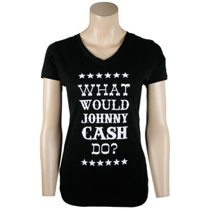 Cowgirl Justice What Would Johnny Cash Do Tee
