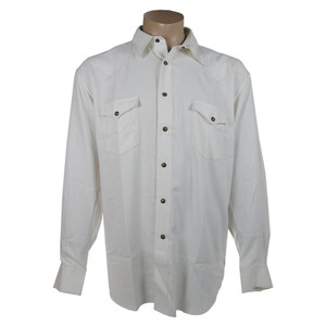 Fonte Snap Shirt with Stitching - White
