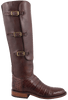Lucchese Women's Barrel Brown Caiman Lieutenant Boots - Side