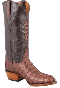 Lucchese Men's Cigar Hornback Caiman Tail Boots - Hero