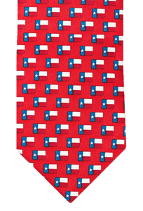 Paris Texas Apparel Co. Lone Star Flag Tie - Red