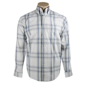 Stetson Gray Ombre Plaid Snap Shirt