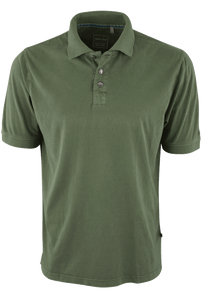 True Grit Short Sleeve Jersey Polo - Army - Front