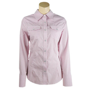Stubbs Women's Multi-Check Western Snap Shirt - Pink