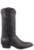 Stallion Men's Black Full-Quill Ostrich Boots - Side