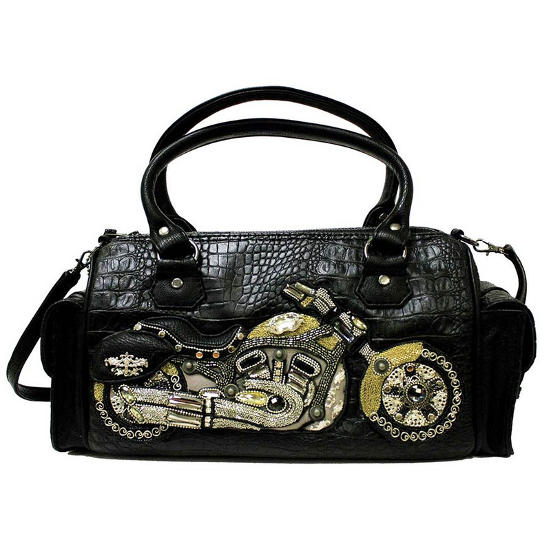 Mary Frances Joy Ride Motorcycle Handbag - Front